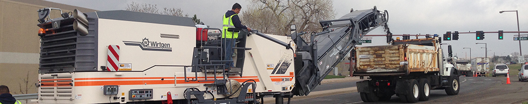 city workers using streets machine